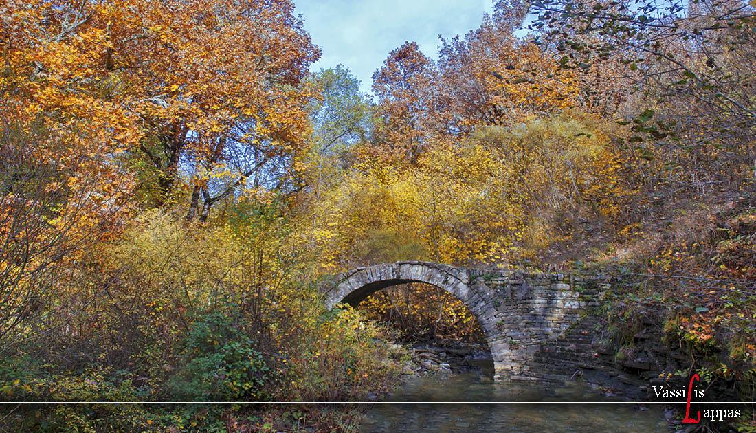 Πέτρινο Γεφύρι του Γερομνιού Κήποι Ζαγορίου Ιωαννίνων.